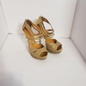Very high heels.